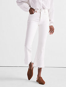 Bridgette Cropped Boot Jean In Clean White With Re