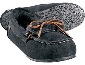 Cabela's Women's Fur-Lined Suede Moc Slippers