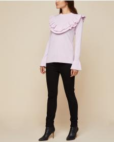 Juicy Couture Ruffled Cashmere Pullover