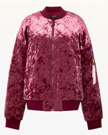 Juicy Couture Quilted Crushed Velour Bomber Jacket