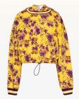 Juicy Couture JXJC Etched Floral Cinched Hooded Pu