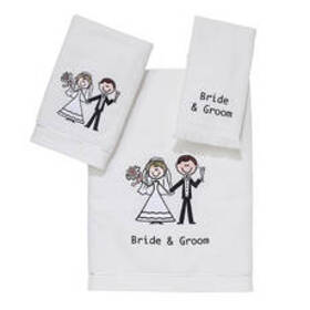 Avanti Linens Bride & Groom Towel Collection