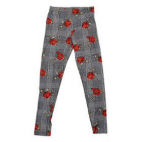 Girls (7-16) No Comment Houndstooth Print Leggings