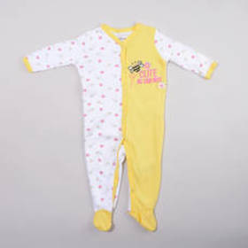Baby Boy (0-9M) Quiltex Cute As Can Bee Footed Sle