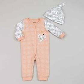 Baby Girl (NB-9M) Chick Pea Heart Dots Coveralls &