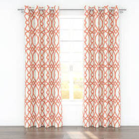 Colorfly™ Piper Grommet Curtain Panels - Coral