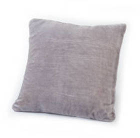 Fox Tipped Dyed Grey Fur Solid Square Decorative P