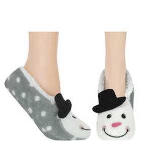 Womens Capelli Snowman Ballet Slippers