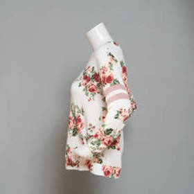 Junior Almost Famous™ Floral Print Long Sleeve Kni