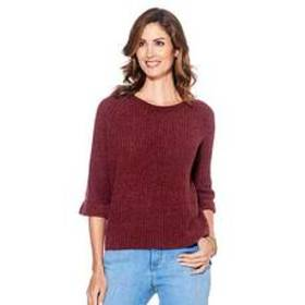 Plus Size Architect® Bell Sleeve Chenille Knit Hi