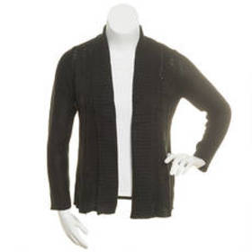 Petite Jason Maxwell Solid Novelty Cable Knit Open