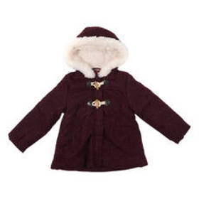 Toddler Girl Wippette Sherpa Lined Hooded Wool Coa