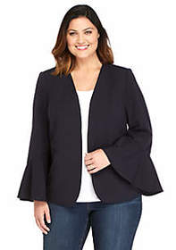 Plus Size Bell Sleeve Jacket