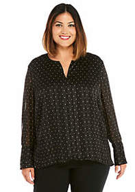 Plus Size High Low Woven Blouse