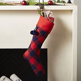 Buffalo Check Red Plaid Stocking