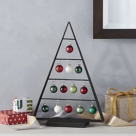 Chalet Small Zinc Ornament Tree