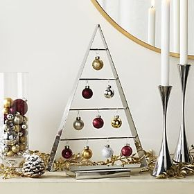 Chalet Small Silver Ornament Tree