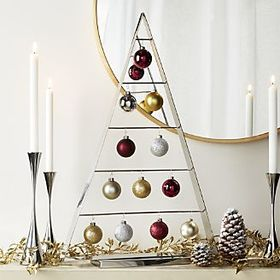 Chalet Large Silver Ornament Tree
