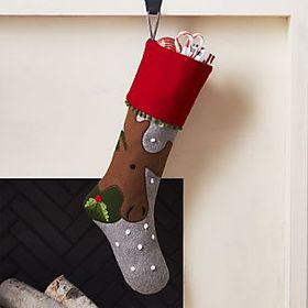 Holiday Moose Stocking