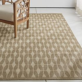 Aldo II Flax Beige Indoor-Outdoor Rug