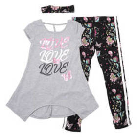 Girls (7-16) One Step Up Love Cage Back Top and Le