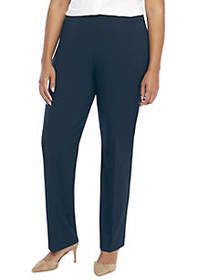 Plus Size Signature Straight Pant with Zip Pockets