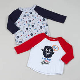 Toddler Boy Quiltex Monster Rad 2pk. Tops Set