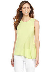 Sleeveless Fluid Crepe Blouse