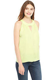 Sleeveless Cutout Charm Top