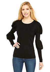 Long Sleeve Crew Neck Puff Sleeve Pullover