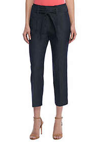 Signature Paperbag Pant in Career Denim