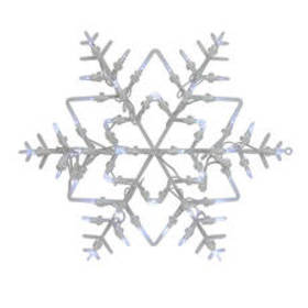 Northlight Seasonal Pre-Lit Snowflake Window 2-Sid