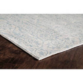 Wilshire Scroll Pattern Rectangle Area Rug - Blue