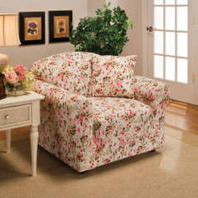 Stretch Jersey Slipcover - Rose Floral