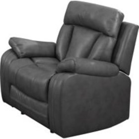 Leonel Signature Benjamin Bonded Leather Recliner,