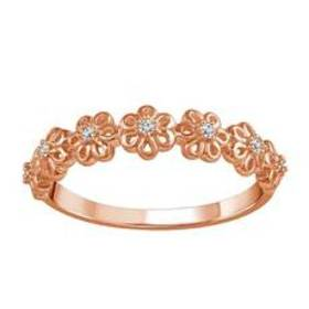 Womens Endless Affection™ Rose Gold 1/20ctw. Diamo