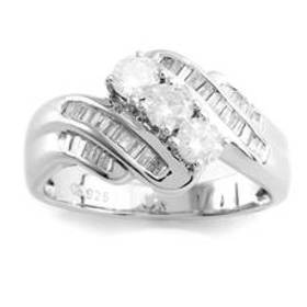 Womens Then Now & Forever™ Sterling Silver 0.75ctw