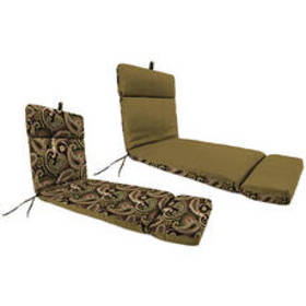 Outdoor Replacement Chaise Cushion - Black/Brown P