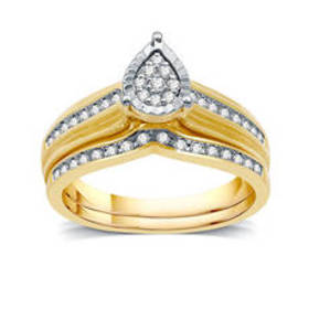 Womens Loveblooms™ 10kt. Yellow Gold 1/4ctw. Pear