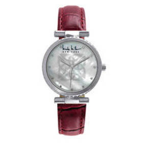 Womens Nicole Miller New York Red Strap Watch - NY
