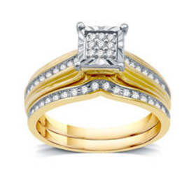 Womens Loveblooms™ 10kt. Yellow Gold 1/4ctw. Squar