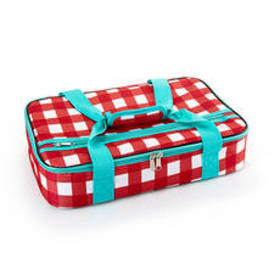 Home Essentials Casserole 16 Red & White Gingham T