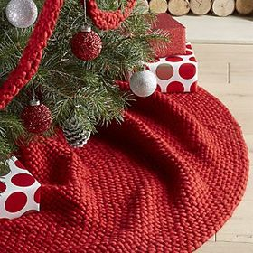Cozy Weave Red Tree Skirt