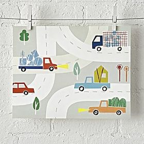 Unframed Car and Truck Wall Art