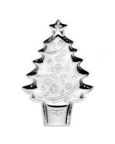 Silver Plated Christmas Tree Cookie Tray