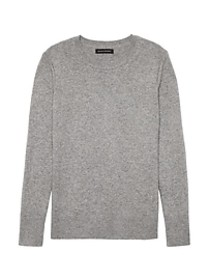 Italian Merino-Blend Crew-Neck Sweater