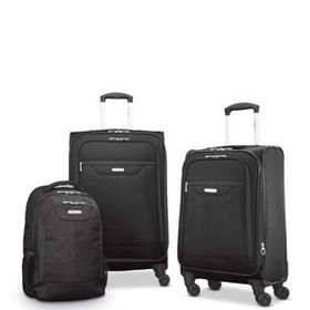 Samsonite Tenacity 3 Piece Luggage Set - Black, Bl