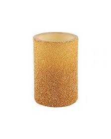 4x6 Inch Gold Bead LED Candle