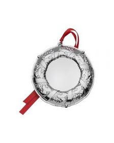 2017 Silver Plated Engraveable Ornament 5th Editio