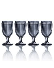 Set of 4 Smoke Iced Beverage Glasses